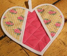 tutorial for heart shaped potholders