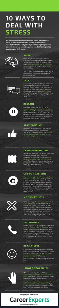 10 Tricks to Deal with Stress Infographic - http://elearninginfographics.com/tricks-to-deal-with-stress-infographic/