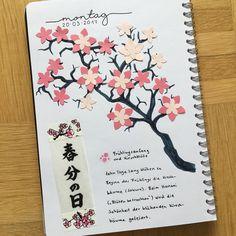 Heute ist Frühlingsanfang 🌸 In Japan beginnt nun auch die Zeit der Kirschblüte. #artjournaling #smashbook #diary #scrapbook #wirebooks #washitape #kirschblüte #hanami #sakura #cherryblossom #frühlingsanfang #frühlingsbeginn #springiscoming #frühling #spring #春分の日 #🌸 #kirschbaum #cherrytree #zeichnung #drawing #kirschblütenvonmeinerhochzeit #cherryblossomsfrommywedding