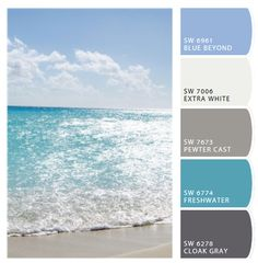 Sparkling beach colors