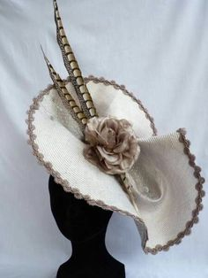 Women S Fashion Cowboy Boots Cheap Code: 1228251389 Sinamay Hats, Millinery Hats, Fascinator Hats, Fascinators, Headpieces, Derby Outfits, Flat Hats, Cocktail Hat, Fancy Hats