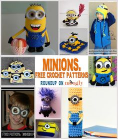 DIY 10 Free Minion Crochet Patterns Roundup from Moogly here. For more Despicable Me minion DIYs go here.