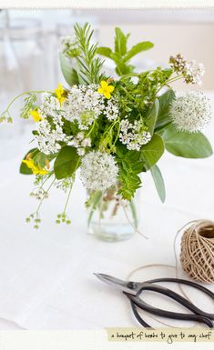 creative mint...lovely way to keep flies away from your table since they don't like mint!...Golddust