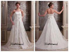 Alluring Satin&Lace A-line Sweetheart Neckline Natural Waistline Wedding Dress