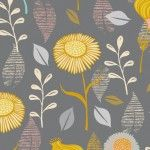 Timber and Leaf – Gerbera Grey | Fabric Rehab