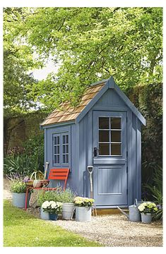 Garden Storage Shed, Outdoor Storage Sheds, Outdoor Sheds, Cheap Storage Sheds, Garden Shed Diy, Garden Houses, Garden Bar, Small Storage, Garden Crafts