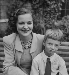 Queen Geraldine of Albania with her son Leka. #vintage