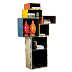 "Jambi Multi Shelf... so not worth $600+ but interesting idea for decorating.     The shelves fasten to one another thanks to small metal clips, which are included with the product.  Shelves can be positioned as desired, individual dimensions are: 15""x7""; 20.5"" x10""; 22""x22""; 15""x15"" & 24""x40"". Depth of each box is 14""."