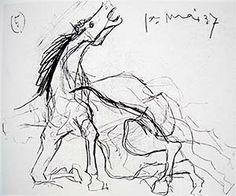 Picasso - Sketches for Guernica Pablo Picasso, Picasso Guernica, Picasso And Braque, Picasso Art, Picasso Sketches, Picasso Drawing, Picasso Paintings, Drawing Sketches, Sketch Art