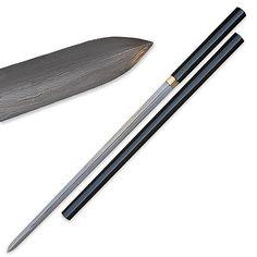 Nodachi Handmade Zatoichi Double Edged Sword - Damascus - Black | True Swords