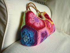 Ravelry: babyykaz's Rainbow African Flower Bag