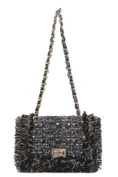 b96327bdd62b Women s handbag tweed medium chain shoulder crossbody bag purse fabric  textile
