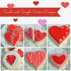 Haniela's: Simple Decorated Valentine's Day Cookies