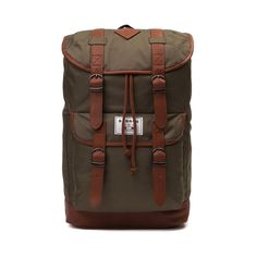 Shop for Benrus Scout Backpack in Olive at Journeys Shoes. Shop today for the hottest brands in mens shoes and womens shoes at Journeys.com.Rugged goes casual with the stylish Scout backpack from Benrus. This classic rucksack features an olive polyester exterior with brown faux leather trim. Front flap closure with magnet snap fastening and drawstring.Features includeDurable polyester exterior with brown faux leather trimFlap closure with drawstringMagnet snap buckle detailsFront storage ...