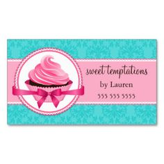 Damask Bakery Business Cards