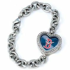 Ladies MLB Boston Red Sox Logo Heart Watch Jewelry Adviser Mlb Watches. $60.00