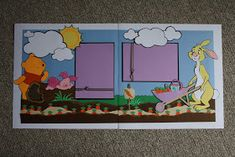 So, I made this Winnie The Pooh scrapbook for my cousin who is expecting her first baby. She is going with a Winnie theme and I thought thi...