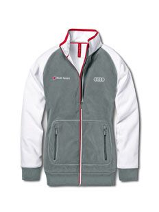 men s audi sport fleece jacket colour dark grey exterior. Black Bedroom Furniture Sets. Home Design Ideas