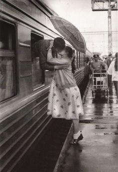 kissing through windows.