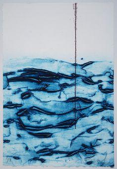 Abstract Ocean Printmaking by Bea Mahan