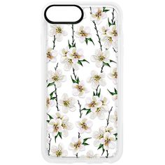 Casetify White Floral iPhone 6/7/8 Plus Case ($36) ❤ liked on Polyvore featuring accessories and tech accessories
