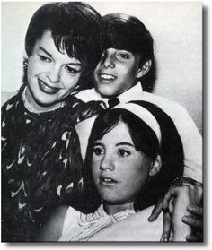 Judy Garland and her children Joey and Lorna Luft.