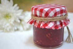 Save your jars and fill with homemade preserves to give as gifts for Christmas