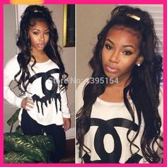10% OFF! Top Grade human hair Body Wave black women Glueless Full Lace wigs / Lace Front wig
