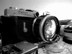 My Canon VI-L ragefinder camera. #old #camera #canon #rangefinder