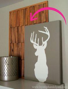 wooden sham wall art