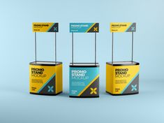 Display your design in a more efficient way on this perfect Promo Stand Mockup for advertising, supermarket mini stand, exhibition, street information desk and Supermarket Design, Change Background, Stand Design, Abstract Photos, Creative Words, Mockup, Your Design, Promotion, Advertising