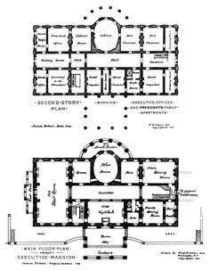 Historical: The White House Floorplan Circa 1900