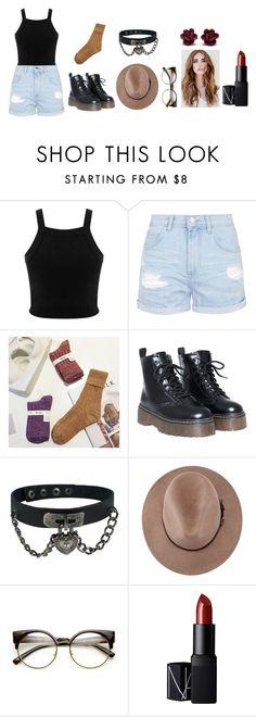 """""""Round Glasses"""" by hien-anhhs on Polyvore featuring mode, Miss Selfridge, Topshop et NARS Cosmetics"""