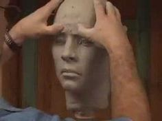 Clase de escultura. Busto de cowboy