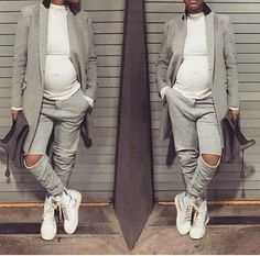 Casual | Teyana Taylor... Even Pregnant she's dope!