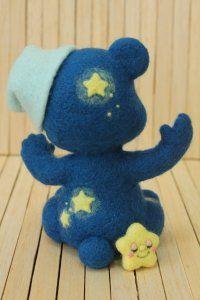 羊毛フェルト 星くま   Needle felted teddy bears