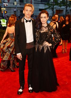 Jamie Campbell Bower & Lily Collins