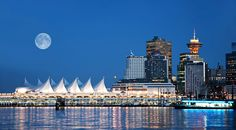 Vancouver inner harbour; cruise ship terminal