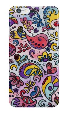 Paisley Rainbow 02 by gabiphillippe Iphone Wallet, Iphone Cases, Paisley, Pouch, Rainbow, Throw Pillows, Canvas, Shop, Stuff To Buy