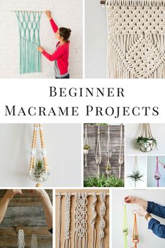 DIY Macrame projects for the beginner!  Includes Macrame wall hangings, how to macrame knots and macrame plant hangers.  #macrame #macramewallhanging #diyhomedecor #diyhomedecor