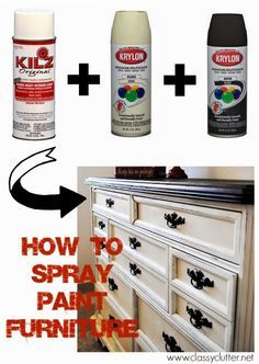How to spray paint your furniture
