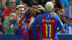 Lionel Messi, Luis Suarez and Neymar made merry as Barcelona regained the winning habit in LaLiga with a 5-1 thrashing of Leganes. Luis Enrique's men suffered a shock 2-1 home loss to Alaves last weekend and made a shaky start at the Estadio Municipal de Butarque. But their attacking stars, who ...