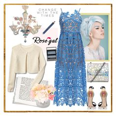 """""""ROSEGAL/Spaghetti Strap Dress"""" by carola-corana ❤ liked on Polyvore featuring Casadei, Estée Lauder and Burberry"""