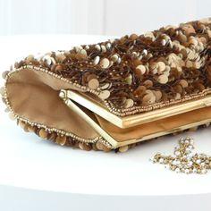 Gold Pailette Clutch