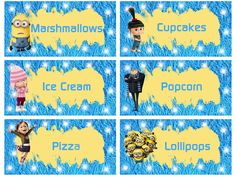 Despicable Me Food Labels - FREE PDF Download