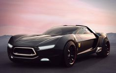 ford mad max interceptor concept. Really like the custom made tires. They really make this concept stand out.