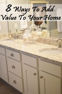 Whether we& looking to stay in our home and just make it nicer. Or fix it up to sell it, these are ways to add value to your existing home, and have it be worth more to you, and to a potential buyer. Update the Home Office. Home Diy, Home, Home Hacks, Sweet Home, Home Remodeling, Home Selling Tips, Home Projects, Home Staging, Home Renovation