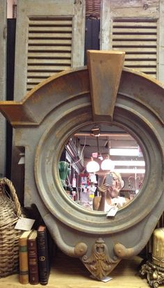 Metal French Dormer Mirror