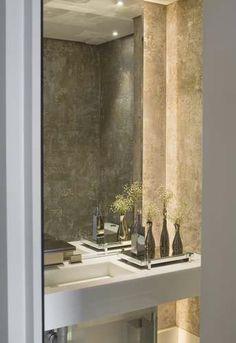 Apartamento no Alto de Pinheiros / Debora Aguiar #lavabo #restroom #bathroom