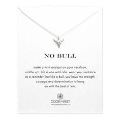 no bull, bull skull necklace, sterling silver